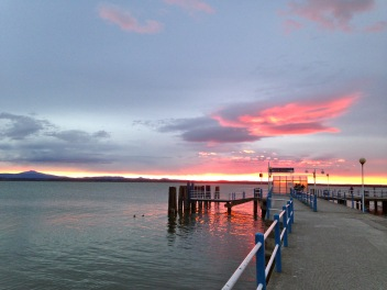 Sunset over Lago Trasimeno
