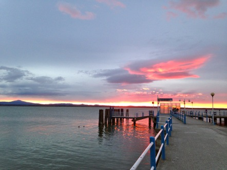 Sunset over Lago Trasimeno